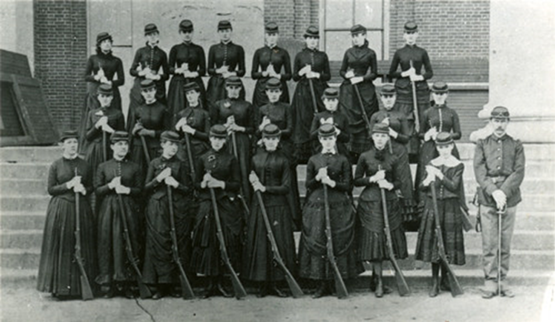 1885: Ladies' Department Drill Company